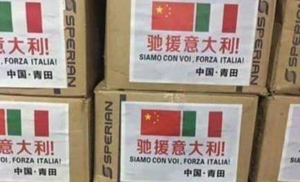 Ayuda de China a Italia