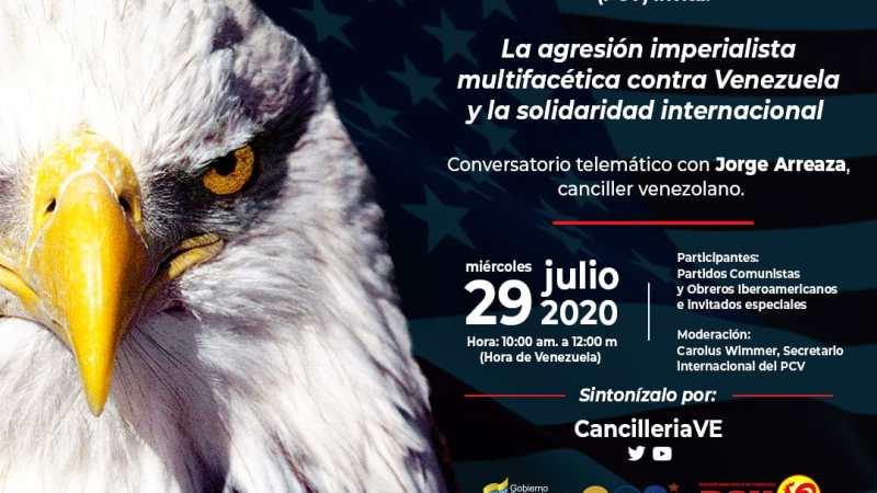 [AHORA EN VIVO] Conversatorio telemático con el canciller Jorge Arreza