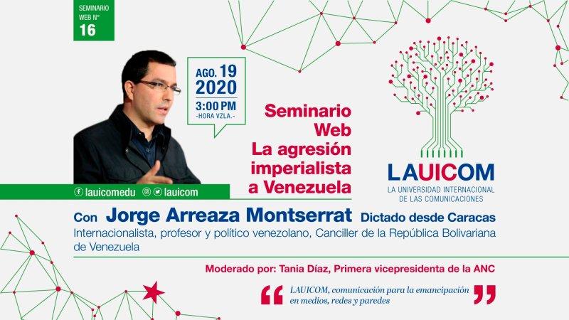 Lauicom instaura un nuevo récord de asistencia en el webinario con Jorge Arreaza