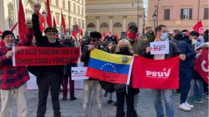 Roma: Contra la ingerencia de Estados Unidos y la Unión Europea contra Cuba y Venezuela
