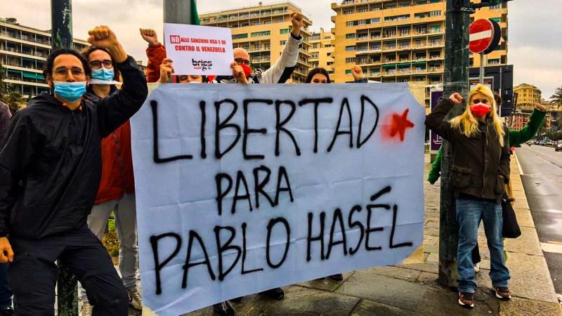 Génova, Italia. Solidaridad a Pablo Hasél