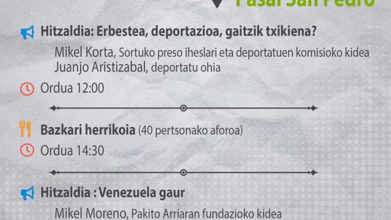 Jornada de Solidaridad Euskal Herria-Venezuela en Pasai San Pedro