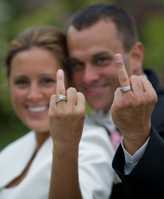 funny wedding ring photo