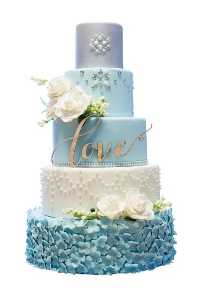 10 Tips for Choosing Your Wedding Cake BridalGuide blue and white cake