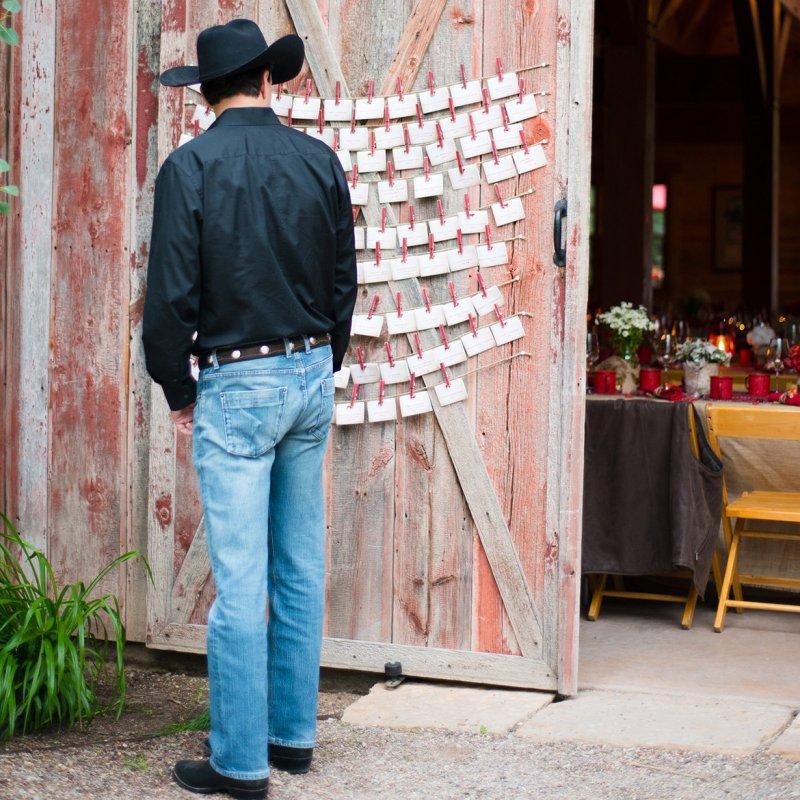 country wedding escort cards