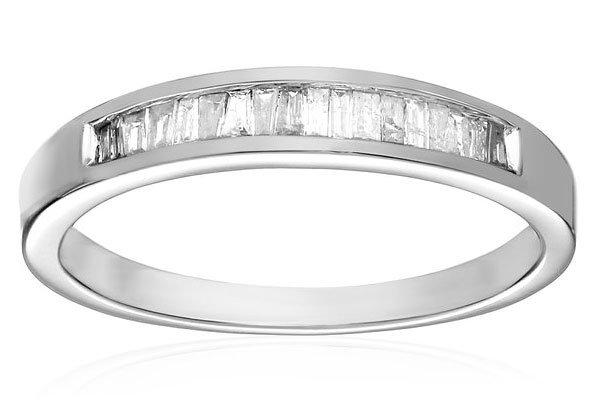 womens baguette channel set diamond wedding ring