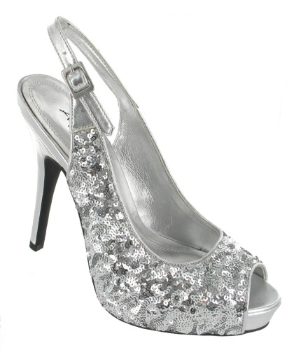 Anne Michelle L2221 Silver Prom Bridesmaid Shoes The