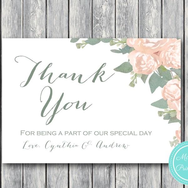 Elegant Wedding Thank You Cards, Engagement Thank You Note