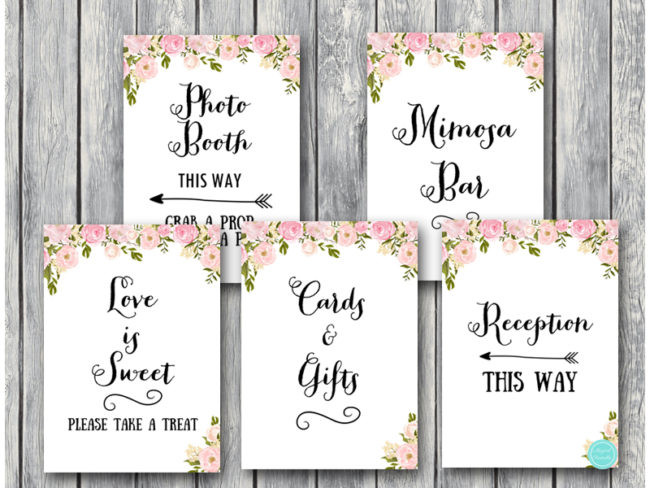 image relating to Wedding Sign Printable named Down load Peonies Marriage Decoration Symptoms WD67