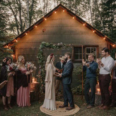 A Homespun Natural Wedding in the Canadian Wilderness // Teri + Keith