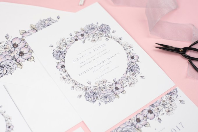 We Love: Hand Illustrated Wedding Stationery from Rose and Beau | British wedding blog - Bride and Tonic