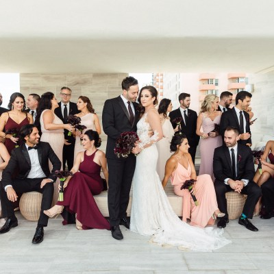 A Stylish Miami Wedding Featuring a Dark and Stormy Colour Palate // Alex + Jamie