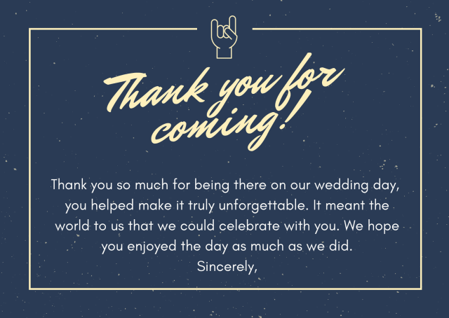 Wedding Thank You Card Wording Samples and Etiquettes - Do and Don