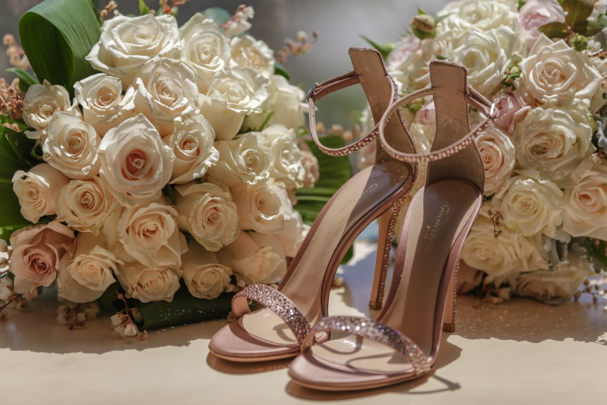 The brides wedding shoes | high heels