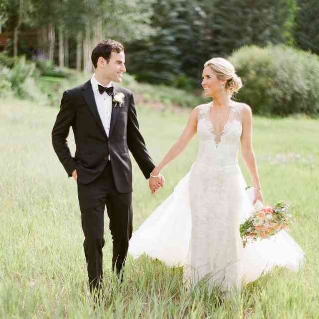 it was all about alpine romance at this elevated wedding in