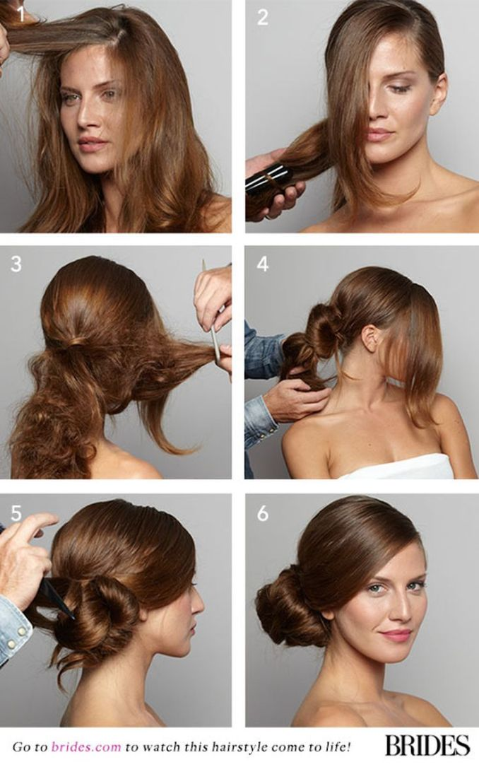 wedding hairstyle 101: how to diy this sleek side bun
