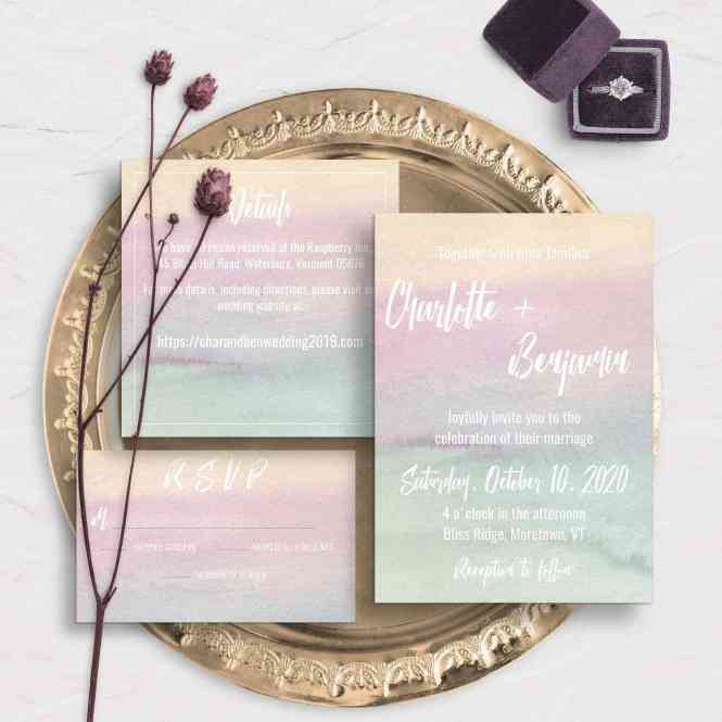 11 Watercolor Wedding Invitations That Are Too Pretty For Words