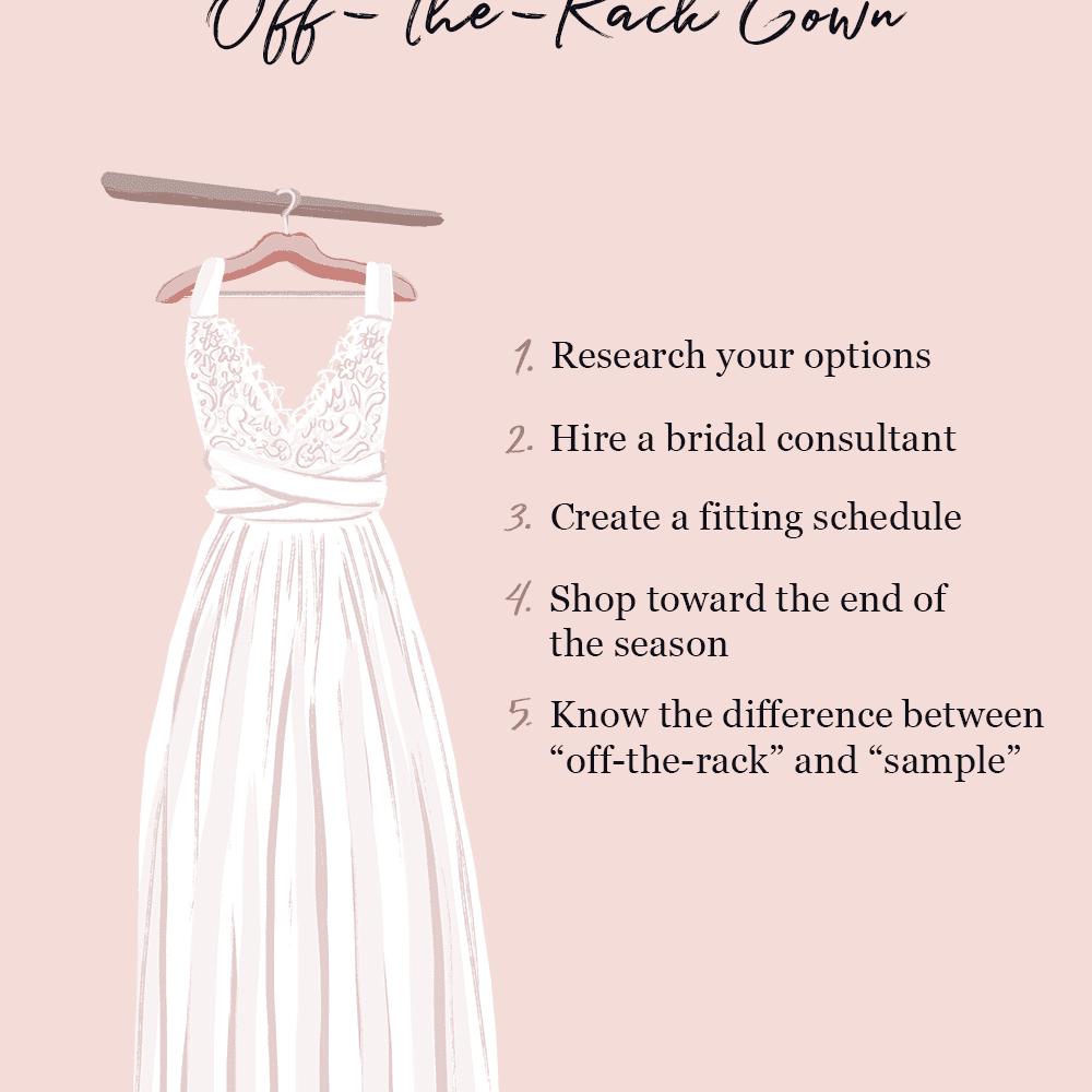 buy an off the rack wedding dress