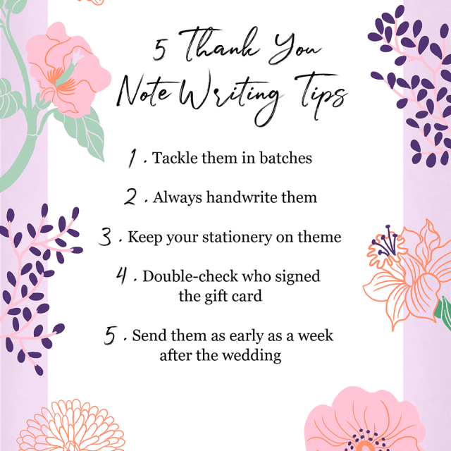 Wedding Thank You Card Wording: Tips and Examples