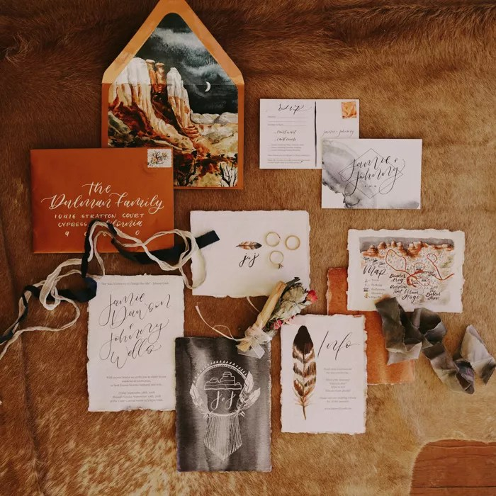 desert glam invitation