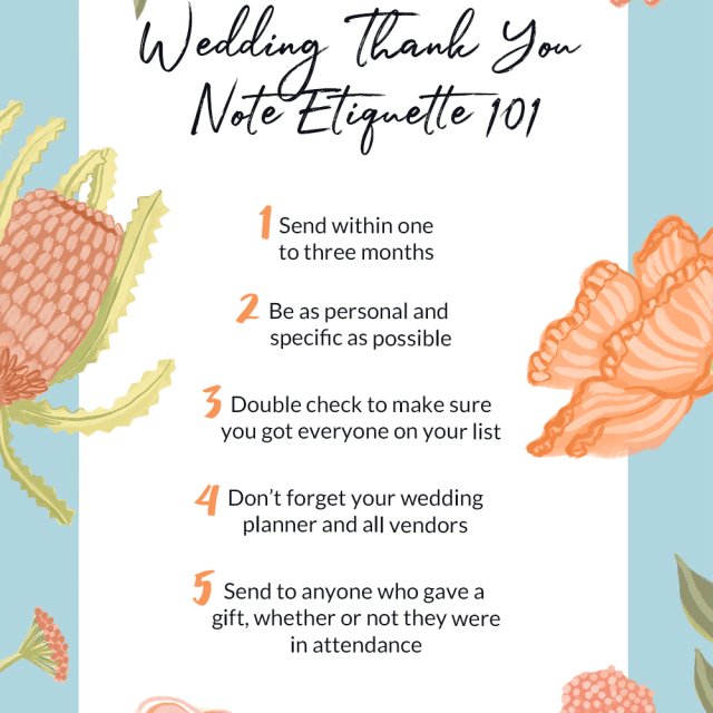 The Wedding Thank You Note Etiquette All Brides Need to Know