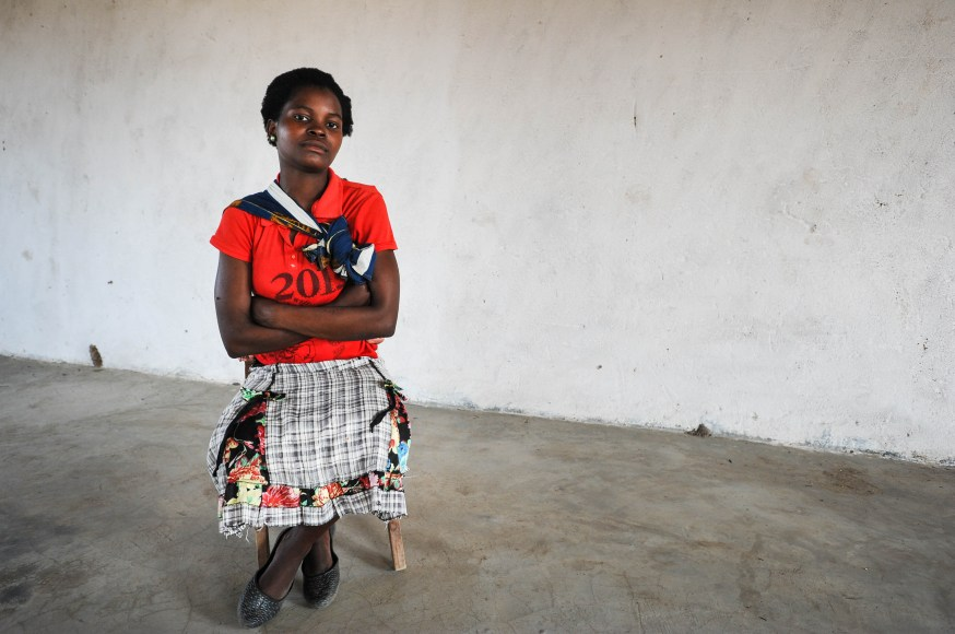 Agnes Mposwa is 15 years old. She was married at the aged of 14 and has a four month old daughter. She lives with her 18 year old husband Simon in Muwawa village in Malawi. She is waiting for her exam results.