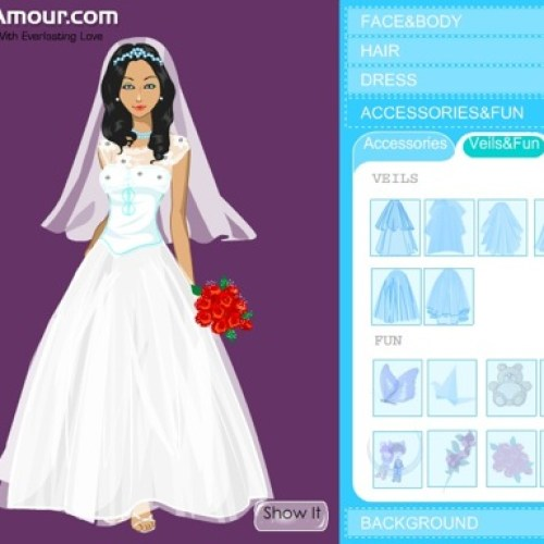 Design Your Own Wedding Dress Online Game   Overlay Wedding Dresses