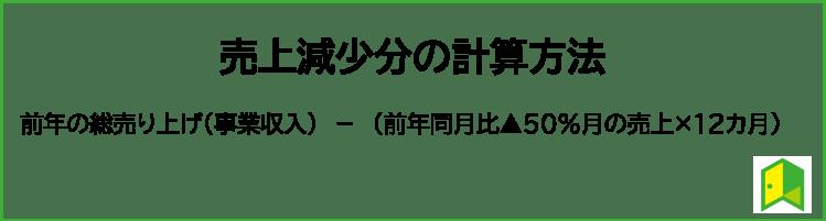 持続化給付金の計算式