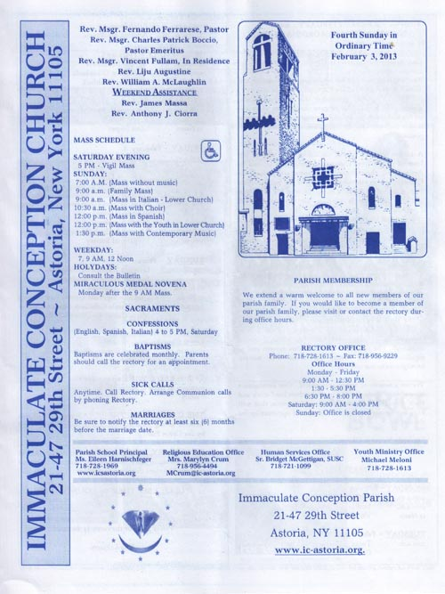 Immaculate Conception Church 21 47 29th Street Astoria