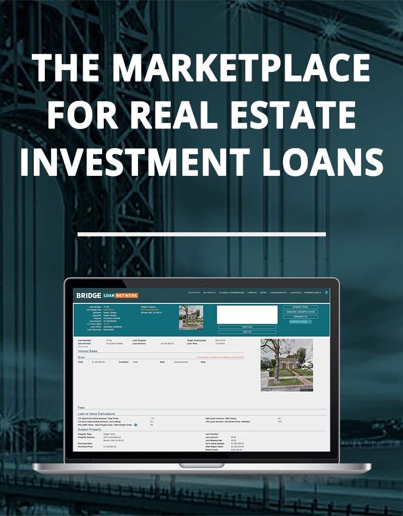 The Marketplace for Real Estate Investment Loans