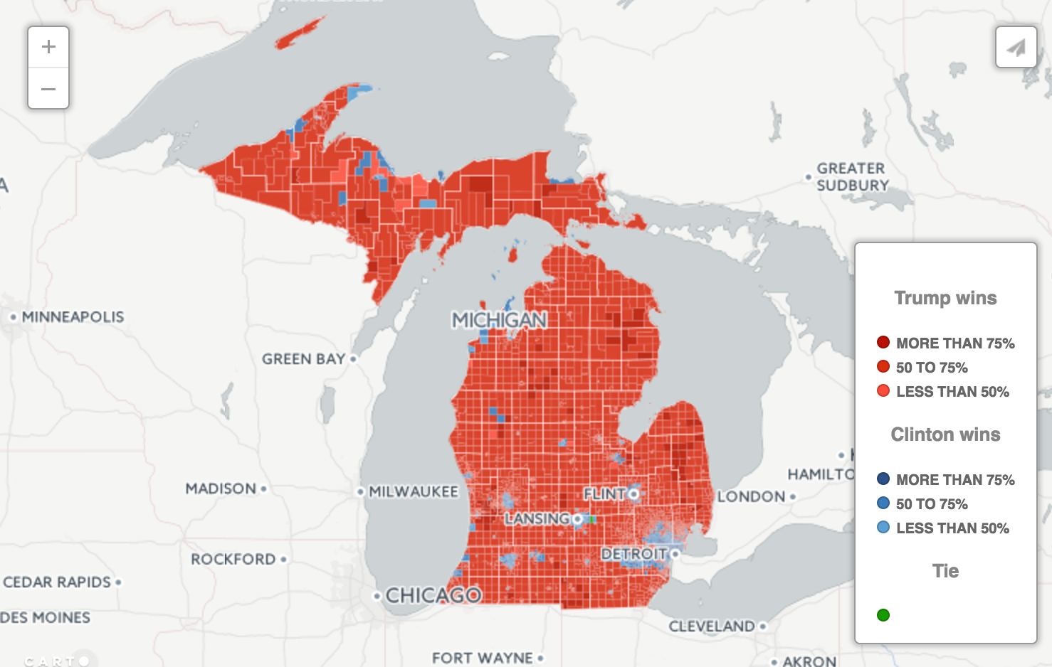 Interactive Map What Political Bubble Do You Live In Bridge Michigan