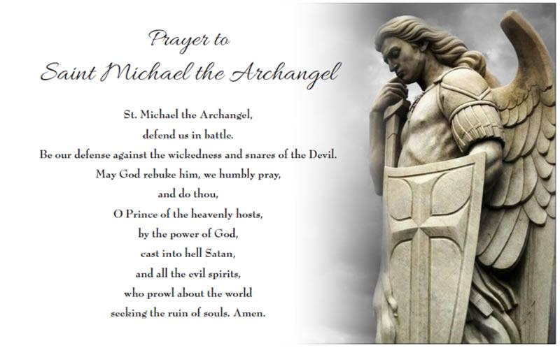 Bishop Instructs Parishes to Recite St  Michael Prayer