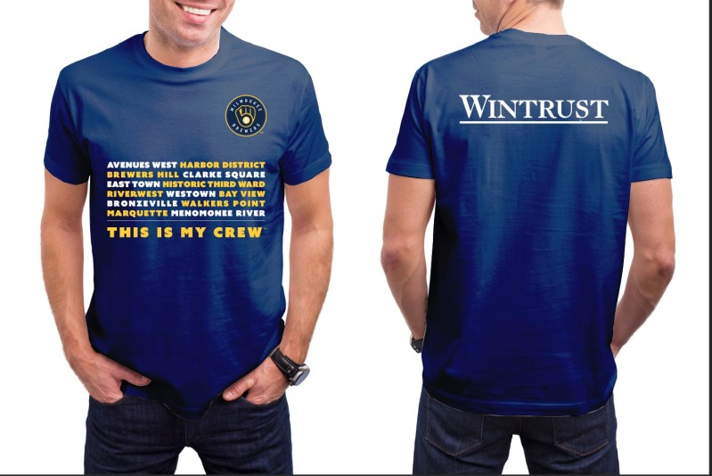 Brewers Wintrust Shirts
