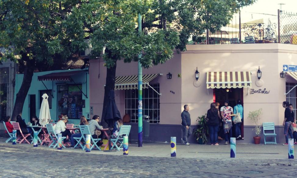Outside Bartola cafe, Buenos Aires