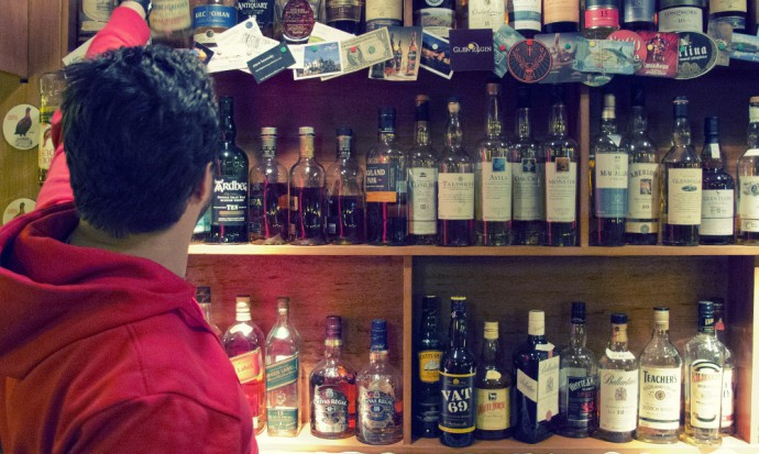 Eduardos Whisky bar in El Chalten