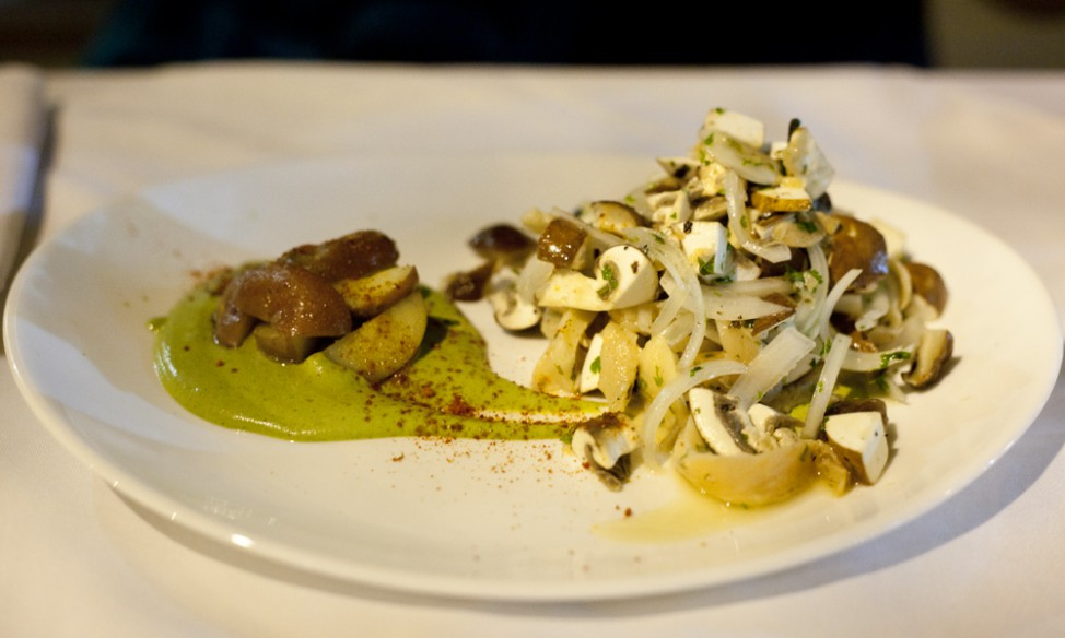 Best vegetarian restuarants in Buenos Aires |Mushroom ceviche at Kensho, Buenos Aires