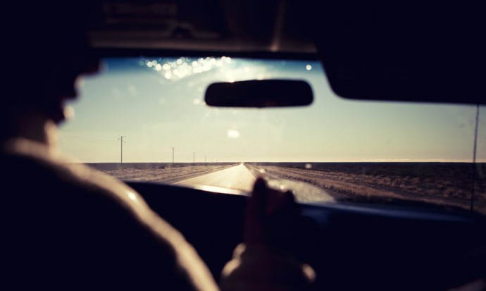 Driving to look for whales, Puerto Madryn