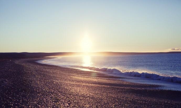 Sunrise near Puerto Madryn