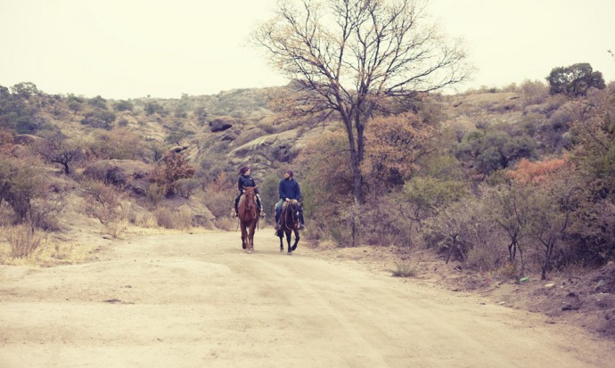 Victoria and Steve horseriding at Capilla del Monte