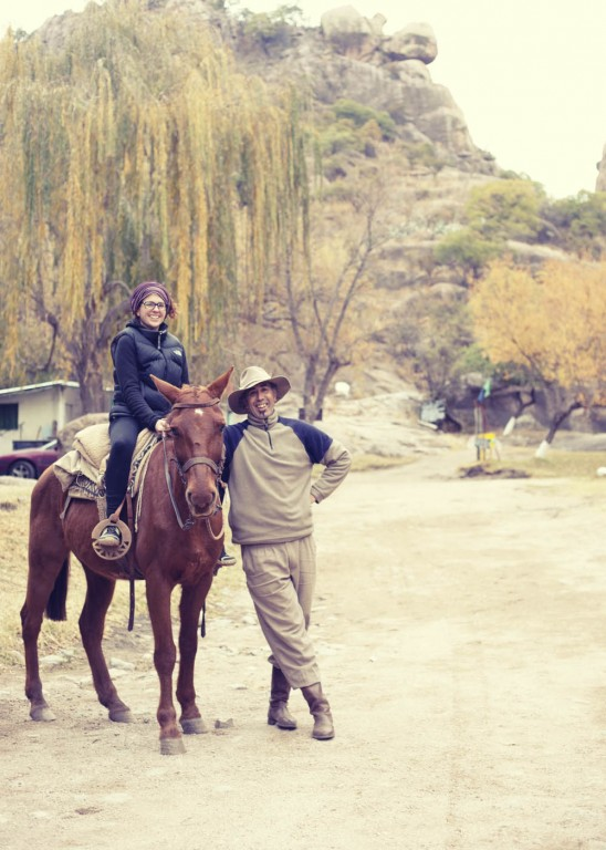 Victoria and our horseriding guide in Capilla del Monte