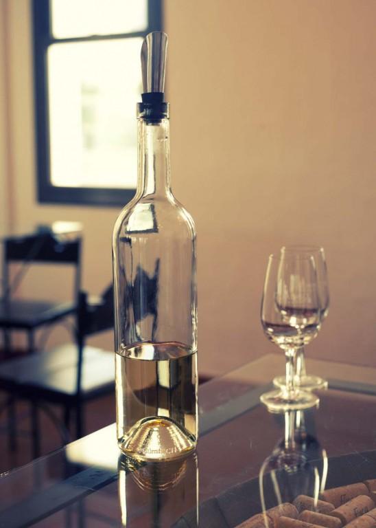 Bottle of Torrontes at Domingo Hermanos, Cafayate