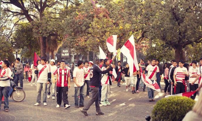 Football celebrations in Plaza 9 Julio, Salta