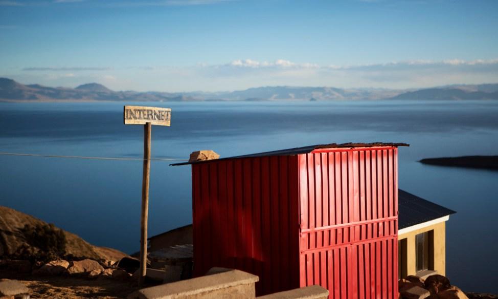 Internet cabin on Isla del Sol