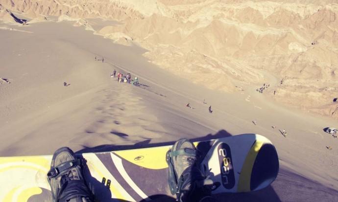 Ready to roll – sandboarding in San Pedro de Atacama