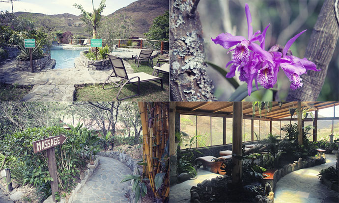 Spa and pool at Izhcayluma Vilcabamba Ecuador