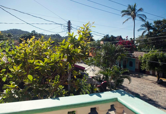 Balcony view San Pancho Mexico apartment