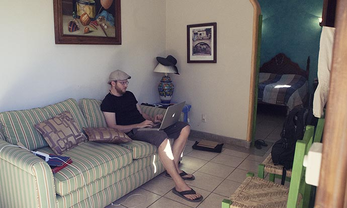 Steve's office San Pancho Mexico