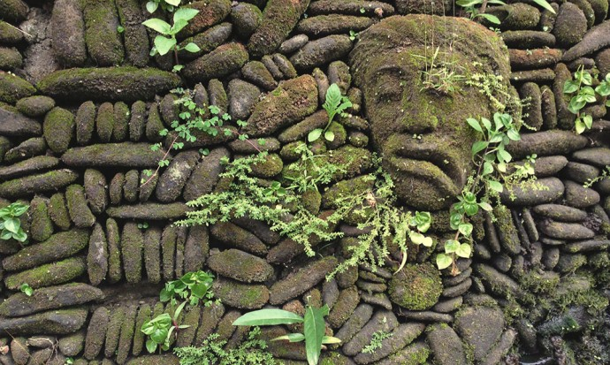 Face in the wall Ubud