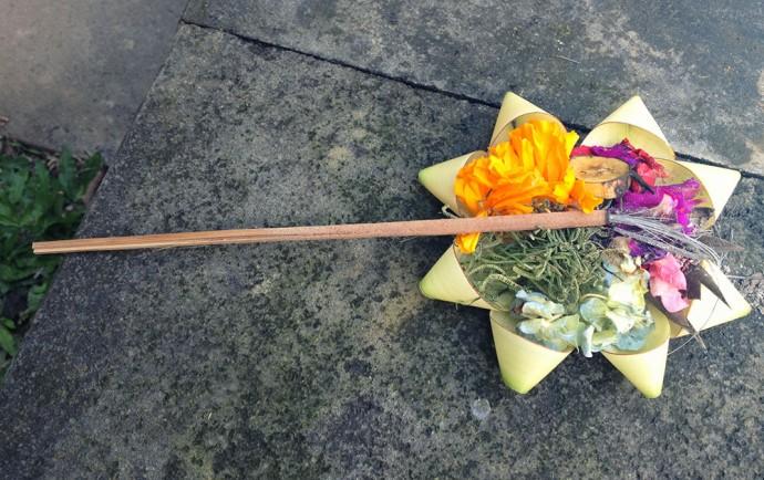 Bali offering in Ubud