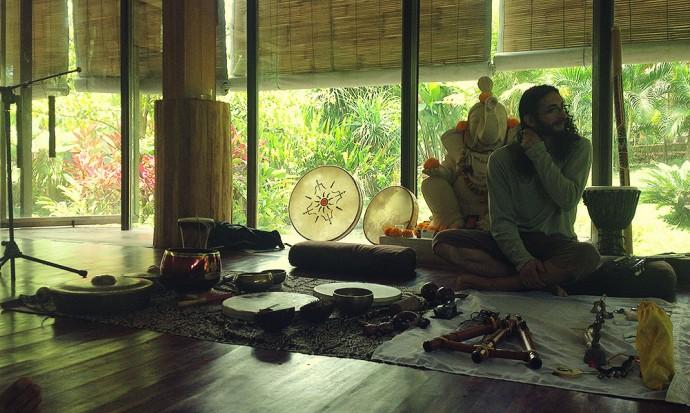Sound healing at Yoga Barn